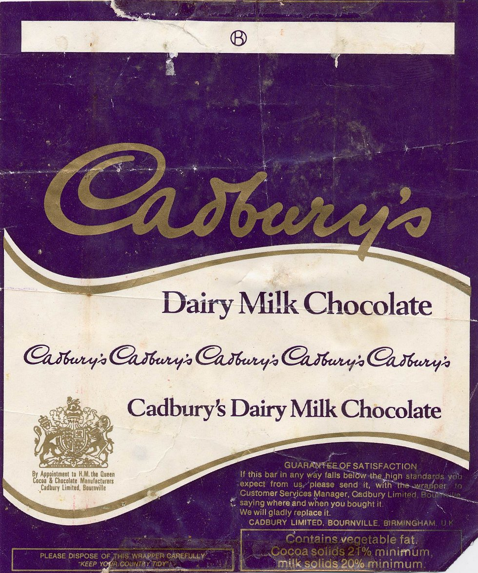 Dairy Milk Chocolate Wrapper
